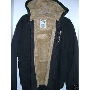 Mens Studio Faux Fur Lined Hooded Sweatshirt: Sports