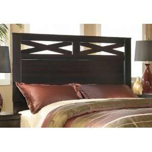 X cess Queen/Full Panel Headboard in Merlot Finish