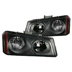 Anzo USA 111009 Chevrolet Avalanche/Silverado Crystal Black Headlight