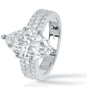 1.26 Carat Pave Set Round Diamonds Engagement Ring