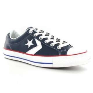 Converse Star Player EV Ox Navy Red Leather Womens