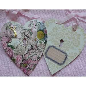 Pink Lady Secret Garden Heart Gift Tag By Fg & Co
