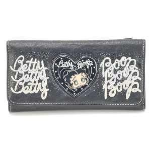 Classic Beauty Queen Betty Boop Long Trifold Wallet in
