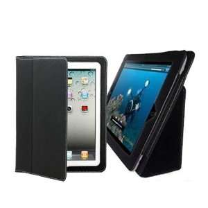 New Black Leather Skin Case Cover with Stand for Ipad 2