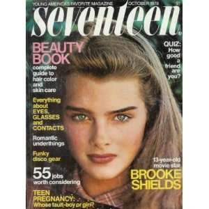 Seventeen Magazine   October 1978 13 Year Old Brooke