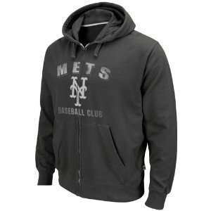 Majestic New York Mets Black Precision Play Full Zip Hoody Sweatshirt