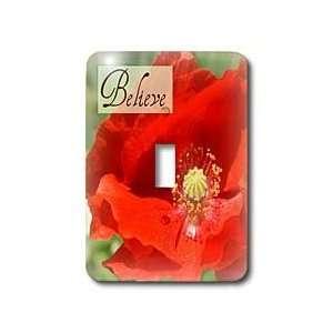 com Patricia Sanders Flowers   Believe Red Poppy Flower Inspirational