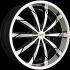 20 x8.5 DIP D66 Slack Black Machined Wheels Rims