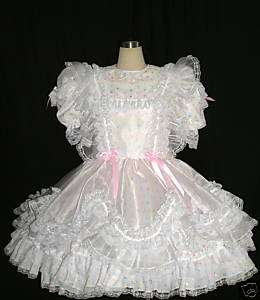 BBT ORGANZA PINAFORE ADULT SISSY GIRL DRESS DR08