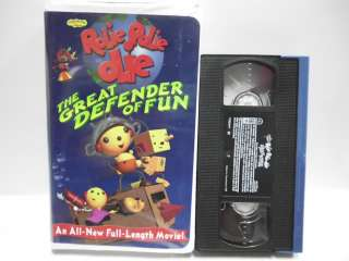ROLIE POLIE OLIE THE GREAT DEFENDER OF FUN VHS VIDEO DISNEY PLAYHOUSE