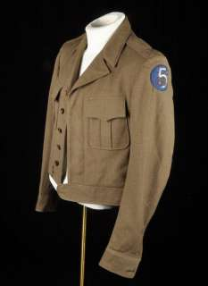 WWII US Army Air Corps Uniform IKE Jacket rare Gold/Silver Bullion 5th