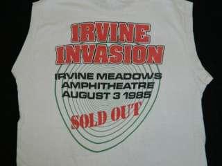 1985 RATT IRVINE INVASION VTG CONCERT T SHIRT ONE DATE ONLY TOUR