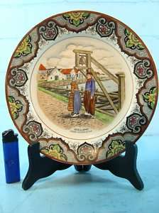 ANTIQUE POLYCHROME DELFT CHARGER MOOI NEDERLAND 1