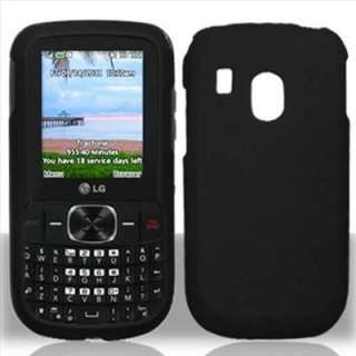 Black Rubberized Hard Case Cover for Tracfone LG 500G P4 DM PDA
