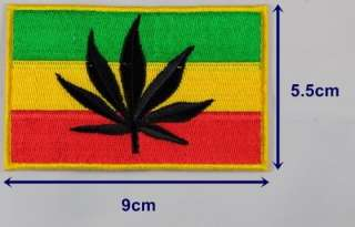 Marijuana Leaf Rasta Reggae Iron on Embroidered Patch