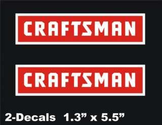 CRAFTSMAN Logo Vinyl Decal Window Sticker Set Of 2