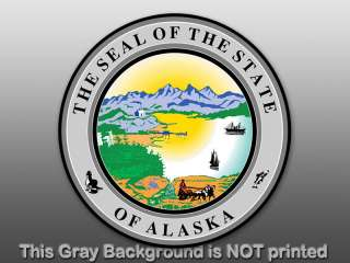 Round Alaska State Seal Sticker decal logo AK vinyl car
