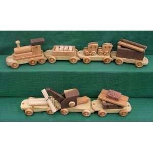 Handmade Wood Toy Jumbo Train Toys & Games