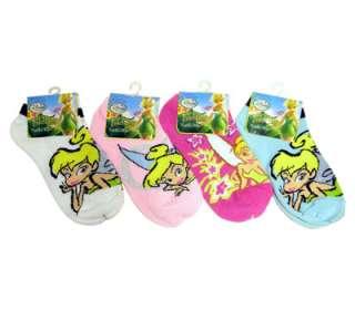 PAIR Disney Tinker Bell Kids Girls Ankle Socks 6 8