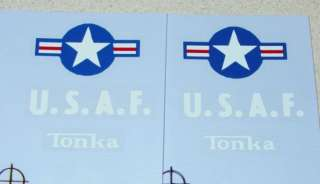 Tonka US Air Force Jeep/Truck Decal Set