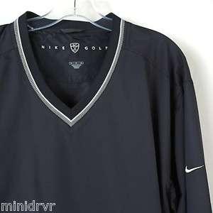 Nike Golf Navy Blue V Neck Long Sleeve Windbreaker Pullover Jacket