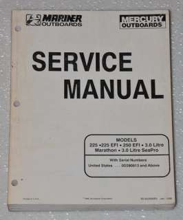 Mariner 225 EFI, 250 EFI, 3.0 Litre Outboard Factory Service Manual