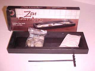 BRAND NEW DESKTOP MINI ZEN GARDEN SAND ROCKS RAKE