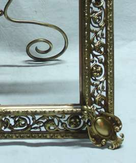 Important antique bronze pair picture frames 19 x 16