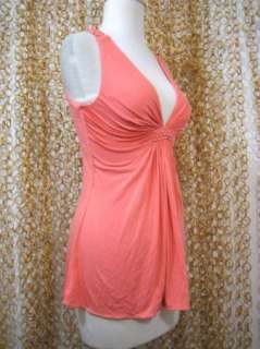 SKY Brand Anthropologie Womens Pink Lace Back Tank Top Shirt sz S NWT