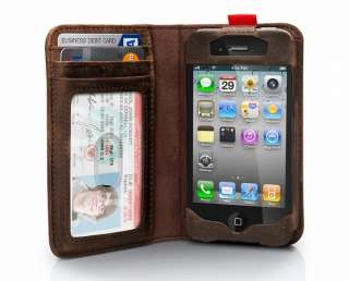 NEW Twelve South BookBook Leather Wallet Case for iPhone 4 Hot Sale