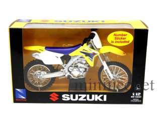 NEW RAY 2007 07 SUZUKI RM Z450 1/12 DIRT BIKE YELLOW