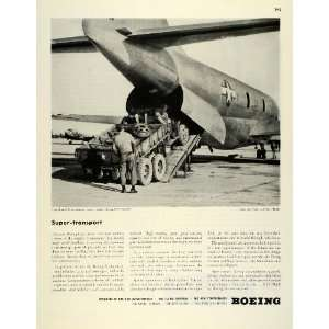 1945 Ad WWII War Production Boeing C97 Army Military