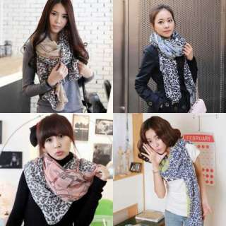 2011 New Style Leopard Chain Lady Girl Long Spring Autumn Scarf Shawl