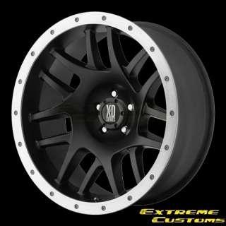 15 x7 XD Series XD123 Bully Satin Black 5 6 8 Lug Wheels Rims Single