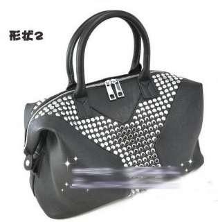 New Celebrity Lady GaGa Y Studs Rock Tote Easy Bags shoulder Handbag