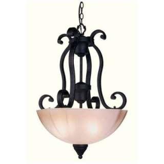 new 3 light pendant lighting fixture distressed wrought iron. Black Bedroom Furniture Sets. Home Design Ideas