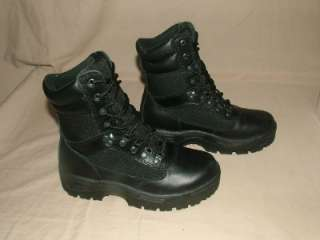 HERMAN SURVIVORS MENS BLACK LEATHER COMMANDER BOOTS SZ 7.5