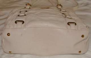 Kors Ruched Gansevoort Large Tote SKU# 18023 Vanilla Leather