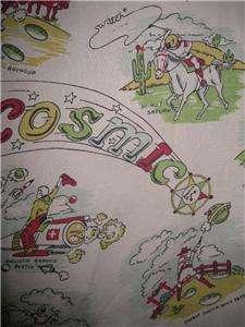 Cowboy Vintage Cotton Cartoon Shirt Sz. Bigger XXL 46 1980s