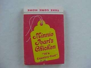 60s Grand Ole Opry Country Music Star Minnie Pearl Chicken restaurant