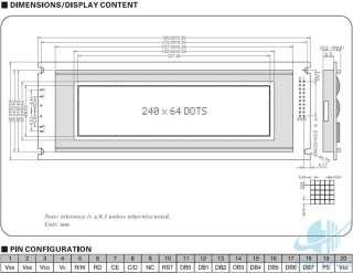 Powertip 128x64 Graphic LCD Module