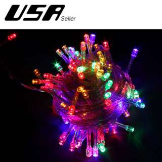 Yellow 10M 100 LED String Light Home Garden Christmas