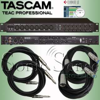 Tascam US1800 USB 2.0 Audio MIDI Interface 16/4 US 1800 Cables