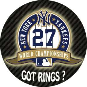 YANKEES 27 GOT RINGS Logo Circle Removable Wall Vinyl Decal 24 inch