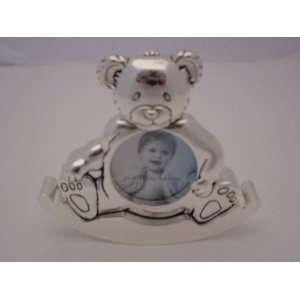 Home Trends Heirloom Baby Rocking Teddy Picture Frame   2 1/4 X 2 1/4