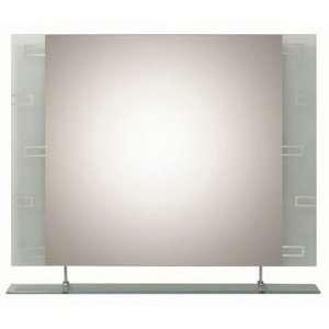 Contemporary Geometric Bevel Frameless Wall Mirror