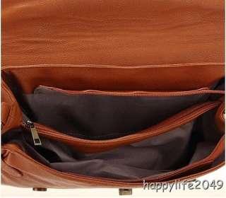 Vintage Satchel Pu Leather Handbag Shoulder Bag Women Student School