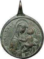 THE VIRGIN MARY JESUS CHRIST ANGELS & CHERUB 1800s Antique Religious