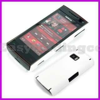 Rubber Hard Back Cover Case for Nokia X6 White