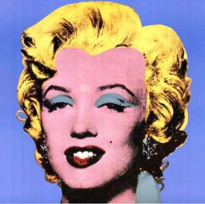 25x25 SHOT BLUE MARILYN MONROE by ANDY WARHOL CANVAS